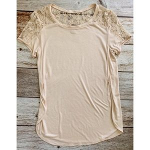 3/$20🌴 F21 Lace Shoulder Top